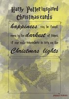 Poppy Makes... Harry Potter inspired Christmas cards. On my blog you'll 8 FREE to download Christmas cards. Including these Hufflepuff inspired ones. Have fun!  #PoppyMakes #DIY #Craft #Crafting #FREE #Printable #Template #Xmas #Christmas #ChristmasCards #HarryPotterChristmasCard #HarryPotterQuote #HarryPotter #Ron #Hermione #Dumbledore #Dobby #HP #8DaysTillChristmas #LinkInBio