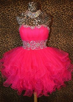 Prom dress - Cute Princess Style Tulle Prom Dress from Girlfriend #promdress #homecomingdress #coniefox #2016prom