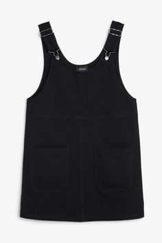 Rounded neck dungaree dress
