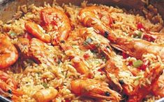Γαριδοπίλαφο Lunch Time, Greek Recipes, Paella, Fried Rice, Food To Make, Shrimp, Seafood, Cooking Recipes, Tasty