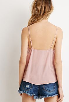 Button-Front Gauze Cami | Forever 21 - 2000097635