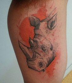 Resultado de imagem para rhino dot tattoo