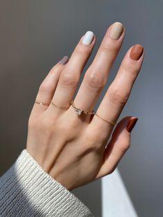 Nagellack Design, Nagellack Trends, Best Acrylic Nails, Acrylic Nail Designs, Stylish Nails, Trendy Nails, Fall Gel Nails, Fall Nail Ideas Gel, Short Nail Manicure