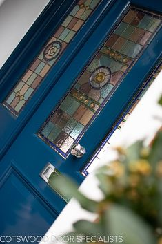 Extra wide Victorian front entrance door and frame. This lead glass is very intricate and is a excellent example of the quality of our doors - Cotswood Doors