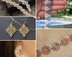 Set of 5 Tatting Lace Patterns