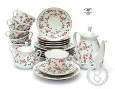 Ekaterina's Imperial Porcelain &Tea. Victorian Pattern Tea Set (21 pieces)