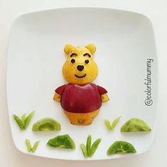 Fruit Winnie the Pooh by Ebru, foodart & children (@colorfulmummy)