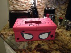 RJ's first valentines box Spider-Man