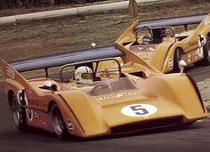 CanAm 1970 Denny Hulme , Dan Gurney , McLaren M8D Chevy.