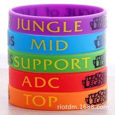 Hot-Cool-League-of-Legends-LOL-Colorful-Theme-Fashion-Bracelets-Hand-catenary
