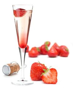 June Strawberry Champagne