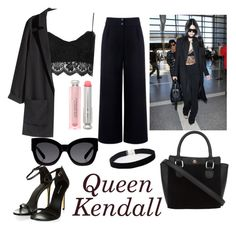 """Kendall"" by luckyauliya ❤ liked on Polyvore featuring Topshop, H&M, Être Cécile, ASOS Curve, Karen Walker and Christian Dior"