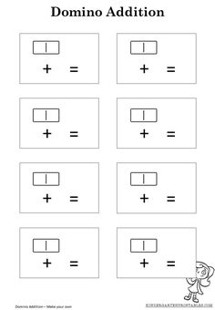 Domino Addition Worksheet Template Domino addition worksheet template