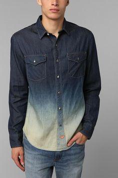 Koto Dip-Dye Denim Button-Down Shirt #urbanoutfitters