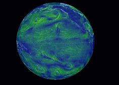 Partial screen capture of the interactive infographic Earth Wind Map Interactive Infographic, Interactive Map, Wind Map, Earth Wind, Cartography, Astronomy, Maps, Globe, Articles