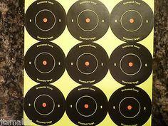 "Birchwood Casey Shoot N-C 2"" Round 18 Targets - Self Adhesive Bull's Eye Target"
