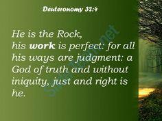 deuteronomy 32 4 the rock his works are perfect powerpoint church sermon Slide05http://www.slideteam.net