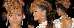 short curly mohawk hairstyles for black women - Google Search