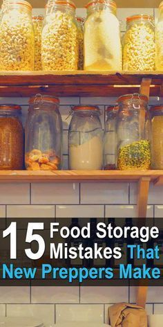 Almost every prepper makes several food storage mistakes at the beginning. It's hard not to. Here are 15 mistakes to avoid. Almost every prepper makes several food storage mistakes at the beginning. It's hard not to. Here are 15 mistakes to avoid. Best Survival Food, Emergency Preparedness Food, Prepper Food, Emergency Food Storage, Emergency Food Supply, Emergency Preparation, Emergency Supplies, Survival Prepping, Survival Skills