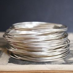 A stack of bangles. Oh, I can just hear them jangling!