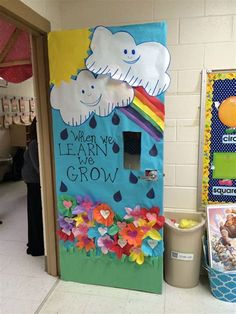 Amazing Classroom Doors To Welcome Your Kids Back To School is part of Kids Crafts Spring Classroom - If the fire marshall gives you the green light, one of the best ways to make your classroom welcoming on the first day, is with a fun classroom door! Classroom Displays, Classroom Themes, Classroom Door Decorating Ideas, Garden Theme Classroom, Classroom Borders, Classroom Pictures, Classroom Supplies, Class Door Decorations, Class Decoration Images