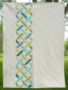 Diamond Tread Quilt Pattern by Freshly Pieced - again, an example of a simple graphic and quilting