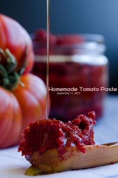 It's so easy to make tomato paste at home. Chop tomatoes, boil and wait under sun. Enjoy summer flavored tomato paste in winter! Tomato Paste Recipe, Homemade Tomato Paste, Lassi, Kimchi, Good Food, Yummy Food, Diy Food, Homemade Food, Canning Recipes