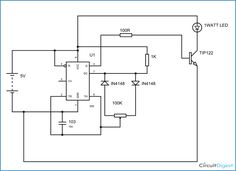 1 Watt LED Dimmer Circuit Diagram