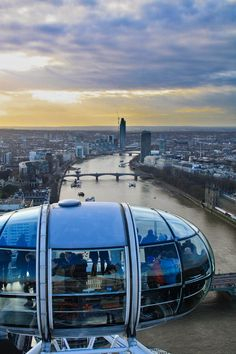 The views are fabulous from the London eye.
