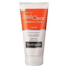 Neutrogena - Rapid Clear Stubborn Acne Cream Cleanser in Acne Medicine, Acne Face Wash, Acne Skin, Oily Skin, Skin Oil, Acne Help, Acne Cream, Facial Cleanser, Acne Facial