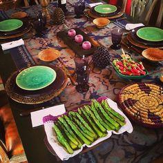 My table setting in Normandie. #carolinedemarchi #normandie