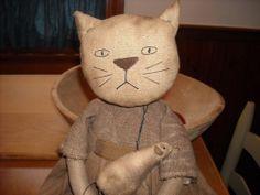 Primitive Handmade cat doll #NaivePrimitive