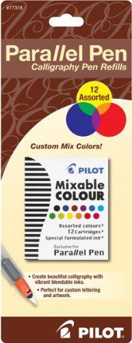 Pilot Parallel Pen Ink Refills for Calligraphy Pens, Asso…