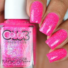 7.2AUD - Color Club - Ultra-Astral - Hot Bright Pink Creme Shimmery Glitter Nail Polish #ebay #Fashion