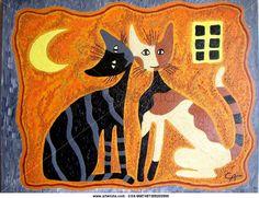 gatos de la noche