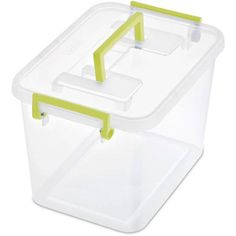 Sterilite 7.2 Quart Modular Latch Box- Bamboo Grass (Available in Case of 6 or Single Unit)