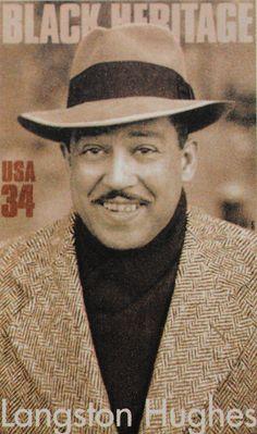 Langston Hughes Black Heritage Stamp