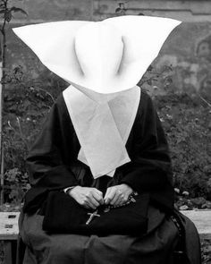NUN....1940..1964.....PHOTO BY KAROL KALLAY.....ON POE ' S MISTRESS.TUMBLR....