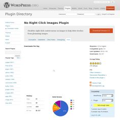 No right click images - prevent image theft! [wordpress plugin]