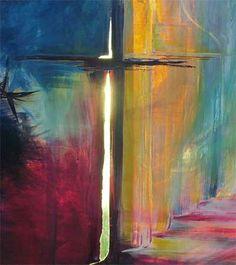 The bible 373306256607708770 - résurrection Source by Christian Paintings, Christian Artwork, Scripture Art, Bible Art, Image Jesus, Spiritual Paintings, Jesus Painting, Cross Art, Prophetic Art