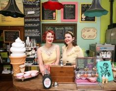 Sweet Ritual is an old fashioned ice cream parlor that serves delicious vegan soft serve sundaes shakes and hand-scooped ice cream. Ice Cream Pops, Ice Cream Day, Yummy Ice Cream, Ice Cream Parlor, Vegan Ice Cream, Matilda, Doughnut Stand, Ice Cream Games, Old Fashioned Ice Cream