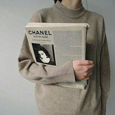 vintage chanel paper + sweater