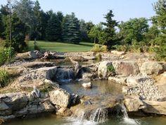 Waterfall created by Aquascape by Blue Creek in Ellensburg, WA. #WaterfallWednesday