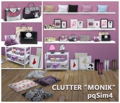 Monik Bedroom Clutter by Mary Jiménez at pqSims4 • Sims 4 Updates