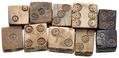SMALL ROMAN BONE OR IVORY DICE. 1st-3rd century AD.