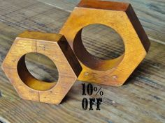 Vintage Industrial Chic Home Decor, Wood Foundry Mold Patterns. $35.00, via Etsy.