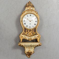 A Swedish Rococo century bracket clock.
