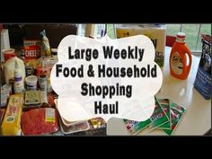 Large Weekly Food & Household Shopping Haul!  #familyfoodshoppinghaul #shoppinghaul #menuinspiration, #cooking