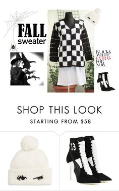 """BLACK & WHITE NEVER DIE"" by sylvia-664 on Polyvore featuring moda, Kate Spade i Puma"