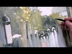 Art League instructor Peter Ulrich demonstrates how to paint watercolor in a limited palette. (Part 2)